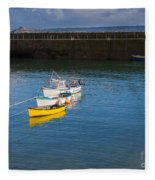 Mousehole Cornwall Fleece Blanket