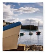 Mousehole Harbour On A May Morning Fleece Blanket