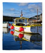 Mousehole Harbour Fleece Blanket