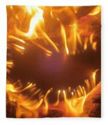 Mouth In The Flame Fleece Blanket