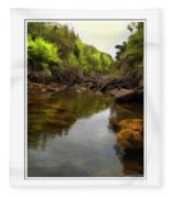 Mouth Of The Brook - Calm - Shallow Water Fleece Blanket
