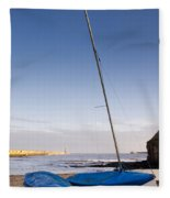 Mouth Of The River Tyne Fleece Blanket