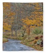 Moving On Down The Road Fleece Blanket