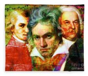 Mozart Beethoven Bach 20140128 Fleece Blanket