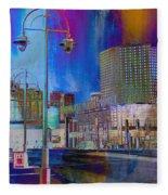 Mpm And Lamp Post Vivid Abstract Fleece Blanket