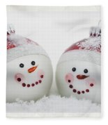 Mr. And Mrs. Snowman Fleece Blanket