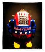 Mr. Atomic Tin Robot Fleece Blanket