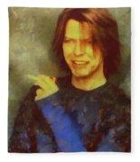 Mr Bowie Fleece Blanket