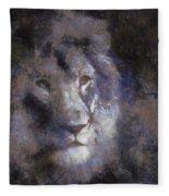 Mr Lion Photo Art 02 Fleece Blanket