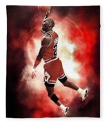 Mr. Michael Jeffrey Jordan Aka Air Jordan Mj Fleece Blanket