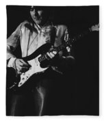 Mick On The Rock And Roll Guitar Fleece Blanket