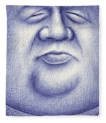 Mr. Moon Fleece Blanket