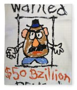 Mr. Potato Head Gone Bad Fleece Blanket