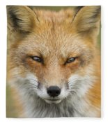 Mr Red Portrait Fleece Blanket