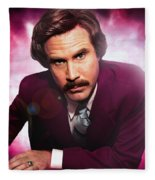 Mr. Ron Mr. Ron Burgundy From Anchorman Fleece Blanket