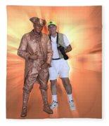 Mr Statue Fleece Blanket
