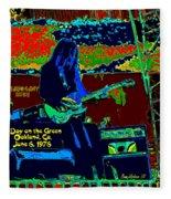 Mrdog # 71 Psychedelically Enhanced W/text Fleece Blanket