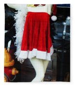 Mrs Santa Manequin Fleece Blanket