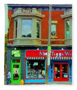 Mrs Tiggy Winkle's Toy Shop And Lost Marbles Richmond Rd The Glebe Paintings Ottawa Scenes C Spandau Fleece Blanket