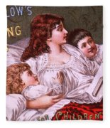 Mrs Winslow's Soothing Syrup Fleece Blanket