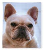 French Bulldog Seriously Fleece Blanket