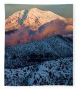 Mt Adams Sunset Fleece Blanket