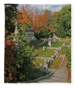 Mt Auburn Cemetery 14 Fleece Blanket