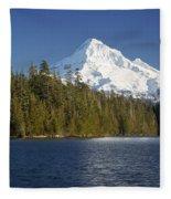 Mt Hood And Lost Lake Fleece Blanket