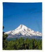 Mt. Hood And Pine Trees Fleece Blanket