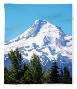 Mt. Hood Oregon Fleece Blanket