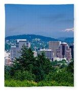 Mt Hood Portland Oregon Usa Fleece Blanket