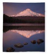 Mt Hood Reflection Fleece Blanket