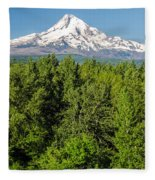 Mt. Hood Vertical Fleece Blanket