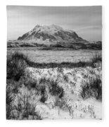 Mt Illimani In Monochrome Fleece Blanket