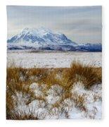 Mt Illimani In Winter Fleece Blanket