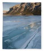 Mt. Inglismaldie And Ice Formations Fleece Blanket