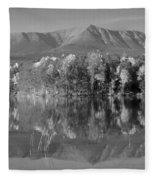 Mt Katahdin Baxter State Park Fall Fleece Blanket