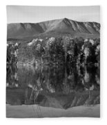 Mt Katahdin Black And White Fleece Blanket