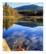 Mt. Monadnock Reflection Fleece Blanket
