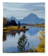 1m9208-mt. Moran And The Snake River, Wy Fleece Blanket