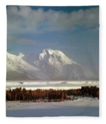 1m9202-mt. Moran, Tetons, Wy Fleece Blanket