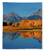Mt. Moran Reflection Fleece Blanket
