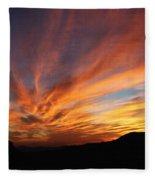 Mt Ord Sunset Arizona Fleece Blanket