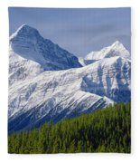 1m3627-mt. Outram And Mt. Forbes Fleece Blanket