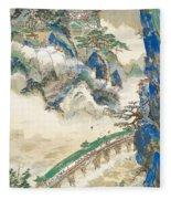 Mt Penglai Mountain Of Immortals Fleece Blanket