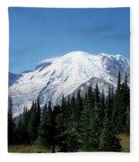Mt. Rainier In August Fleece Blanket