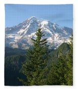 Mt. Rainier In Summer Fleece Blanket