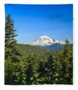 Mt Rainier Fleece Blanket