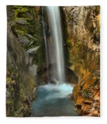 Mt Rainier Waterfall Fleece Blanket
