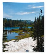 Mt. Rainier Wilderness Fleece Blanket